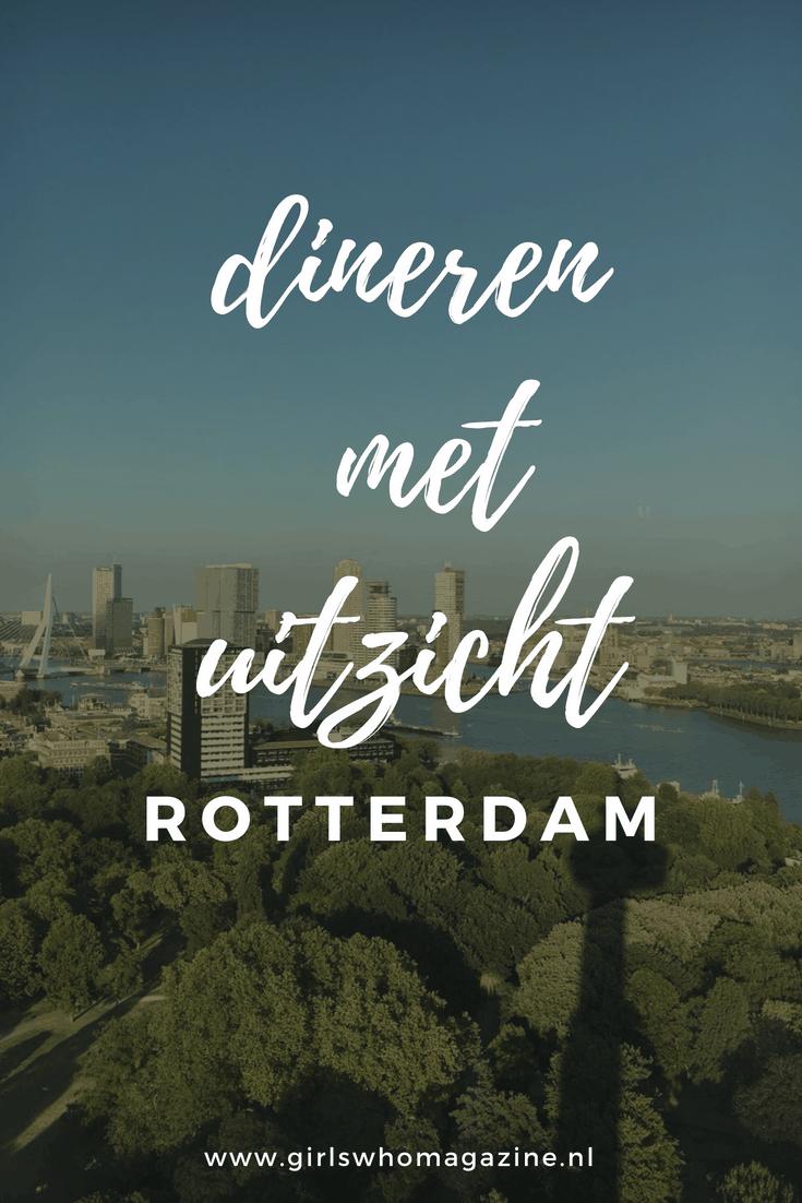 Dit is de spot van Rotterdsm waar je geweest moet zijn. In dit restaurant kan je heel Rotterdam over kijken. Dineren met uitzicht!