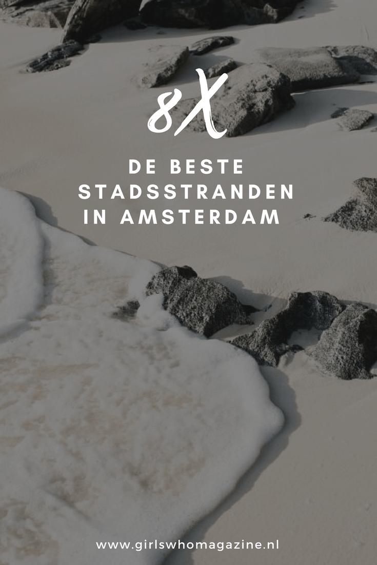 8 X plekken waar je goed kan afkoelen in Amsterdam namelijk de stadsstranden. Deze kan je hier vinden